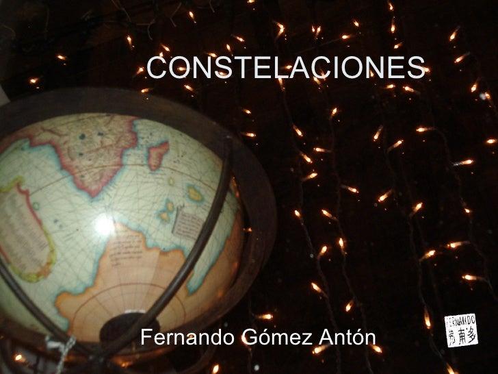 CONSTELACIONES Fernando Gómez Antón