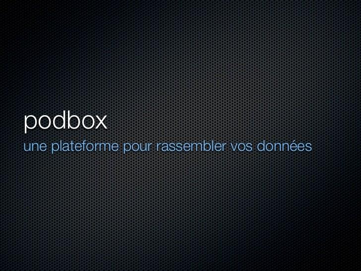 Projet Podbox
