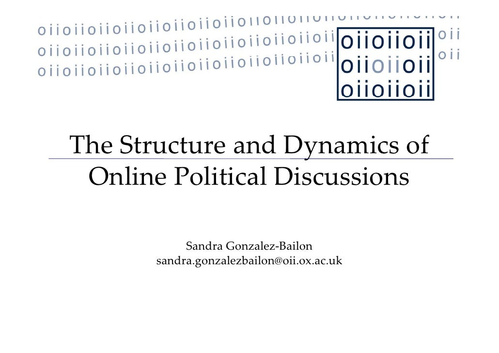 The Structure of Political Discussion Networks