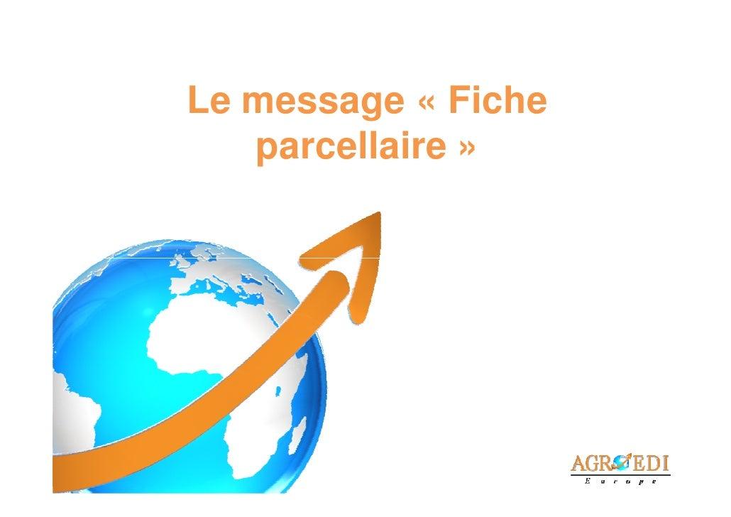 Le message « Fiche   parcellaire »