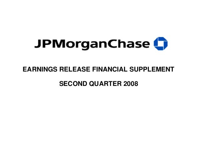 EARNINGS RELEASE FINANCIAL SUPPLEMENT SECOND QUARTER 2008