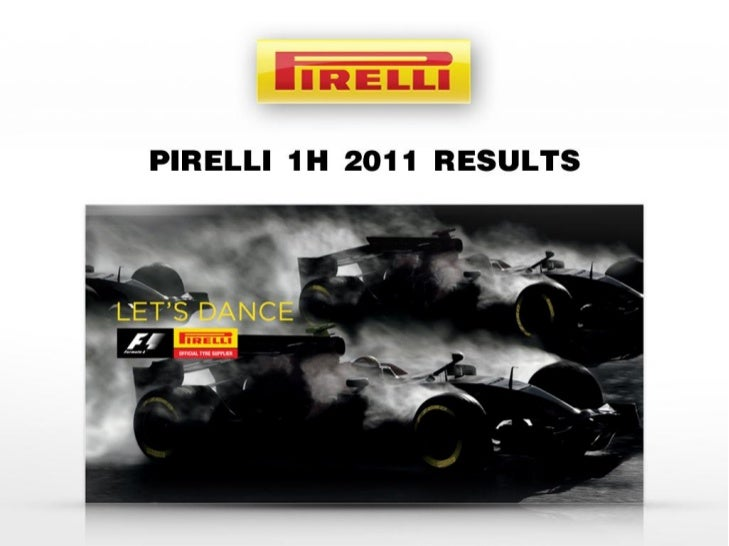 DISCLAIMERThis presentation contains statements that constitute forward-looking statements based on Pirelli & C SpA's curr...