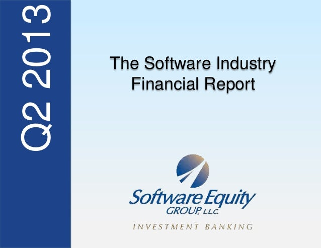2Q13 Software Industry Financial Report