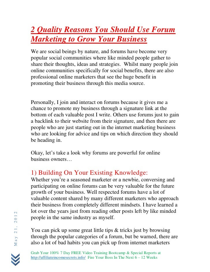 2 Quality Reasons You Should Use Forum               Marketing to Grow Your Business               We are social beings by...