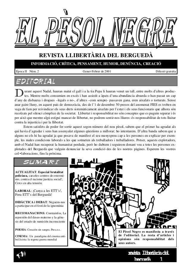 El pèsol Negre. Número 2.Gener-Febrer 2001 (2a època)