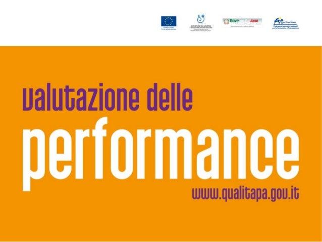 Valutazione e rendicontazione del Ciclo della Performance/2