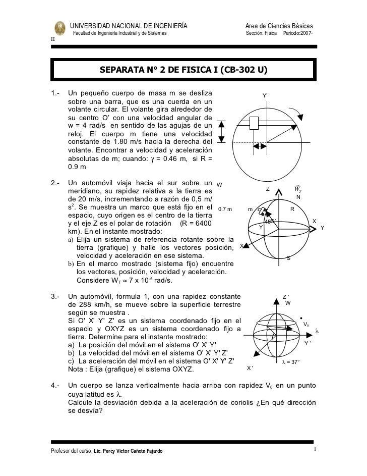 UNIVERSIDAD NACIONAL DE INGENIERÍA                       Area de Ciencias Básicas          Facultad de Ingeniería Industri...