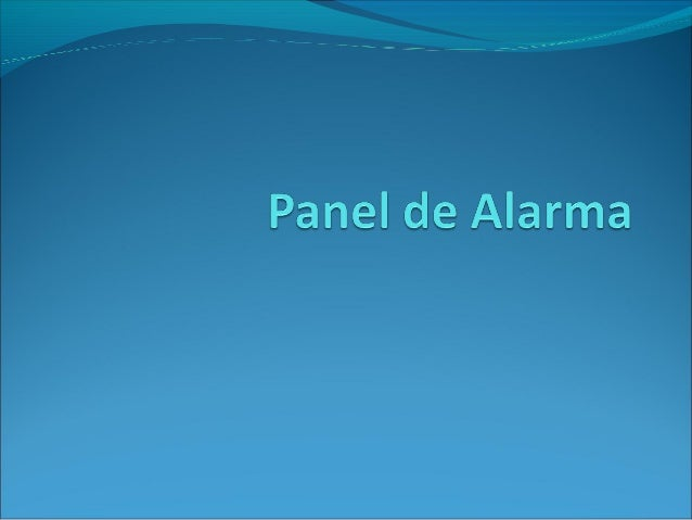 Sistema de alarma for Sistema de alarma