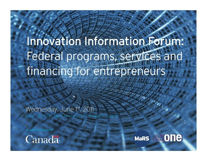 Investing in Business Innovation (IBI) - Innvation Information Forum