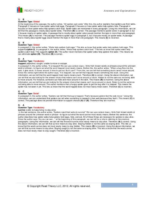 Read Theory Worksheets - Genius