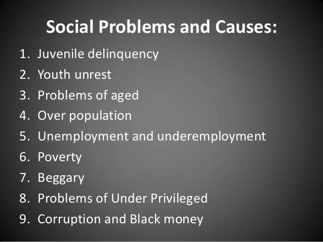 Essay On Social Problems