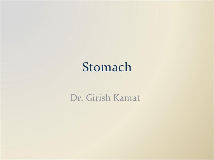 Stomach Dr. Girish Kamat