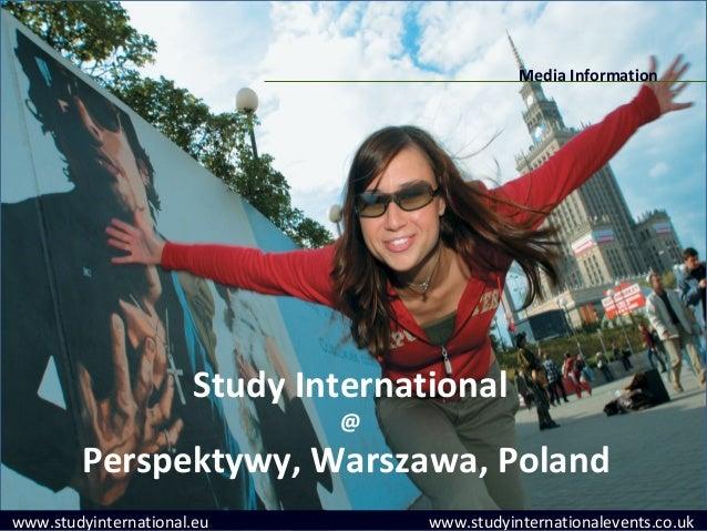 Media Information                      Study International                              @        Perspektywy, Warszawa, Po...