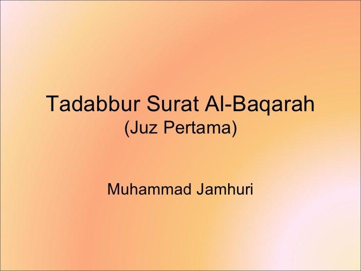 Tadabbur Surat al-Baqarah