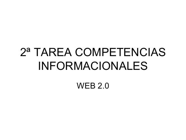 2ª TAREA COMPETENCIAS INFORMACIONALES WEB 2.0