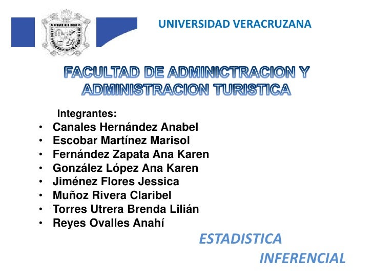 UNIVERSIDAD VERACRUZANA<br />FACULTAD DE ADMINICTRACION Y ADMINISTRACION TURISTICA<br />Integrantes:<br />Canales Hernánde...