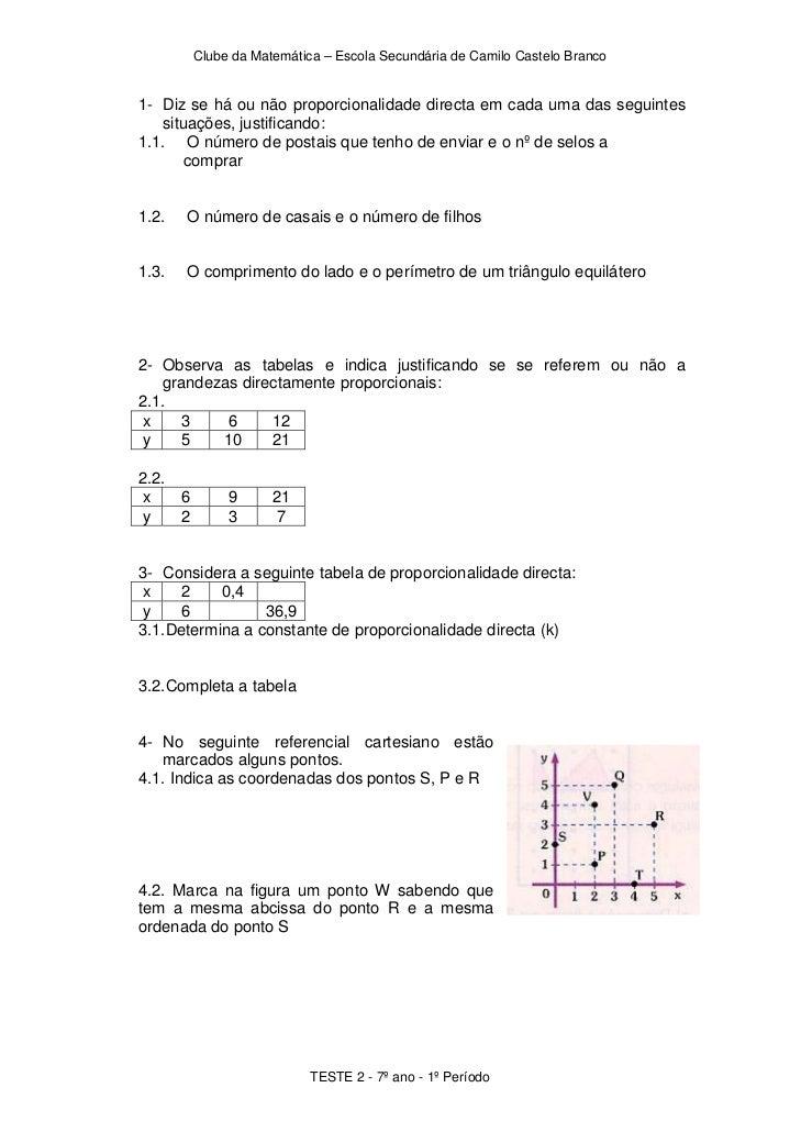 2º teste - 7º ano