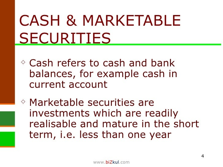characteristic marketable securities