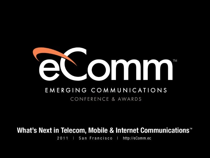 Tomaz Stolfa - Presentation at Emerging Communications Conference & Awards (eComm 2011)