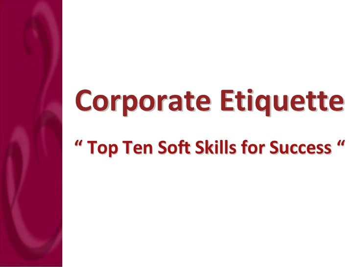 (2) top ten soft skills for success
