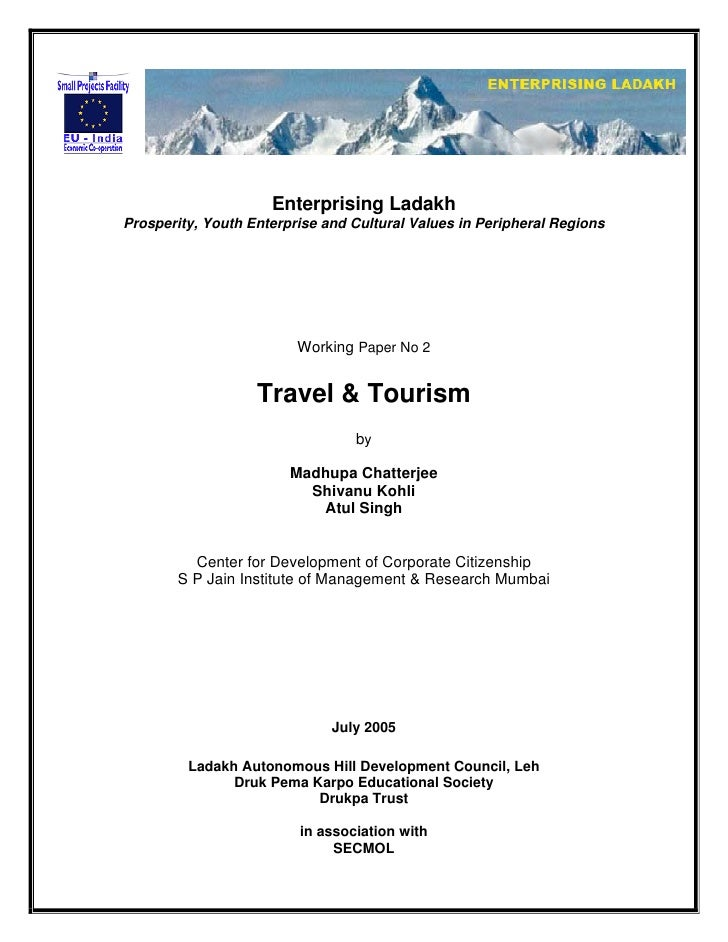 Enterprising Ladakh Prosperity, Youth Enterprise and Cultural Values in Peripheral Regions                              Wo...