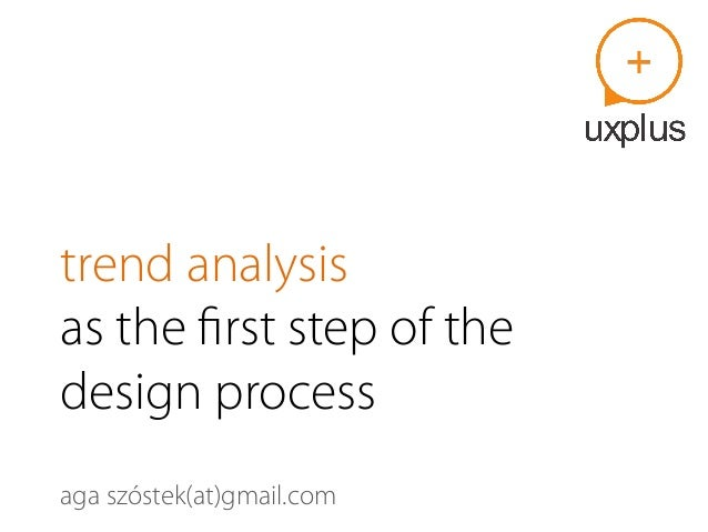 trend analysis as the first step of the design process aga szóstek(at)gmail.com