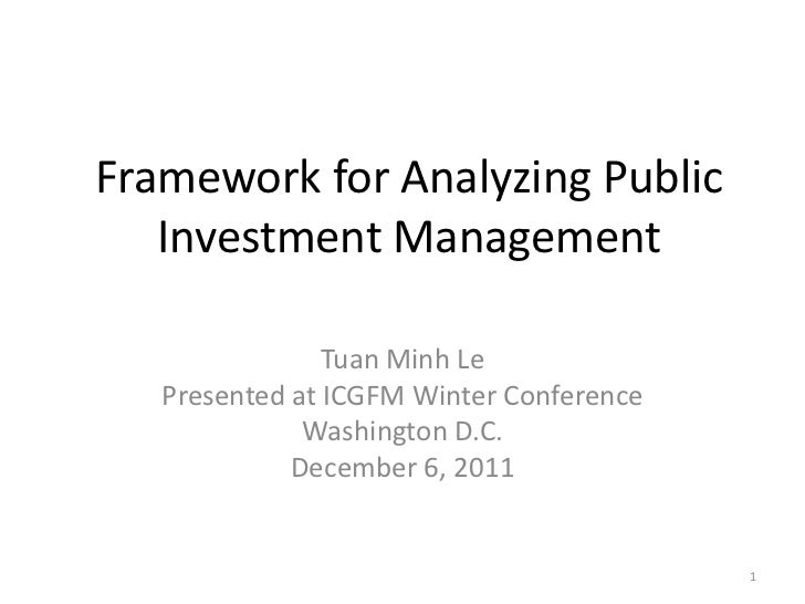 Framework for Analyzing Public Investment Management