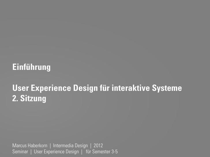UX Design - Elemente der UX & die AOF-Methode (2. Sitzung)