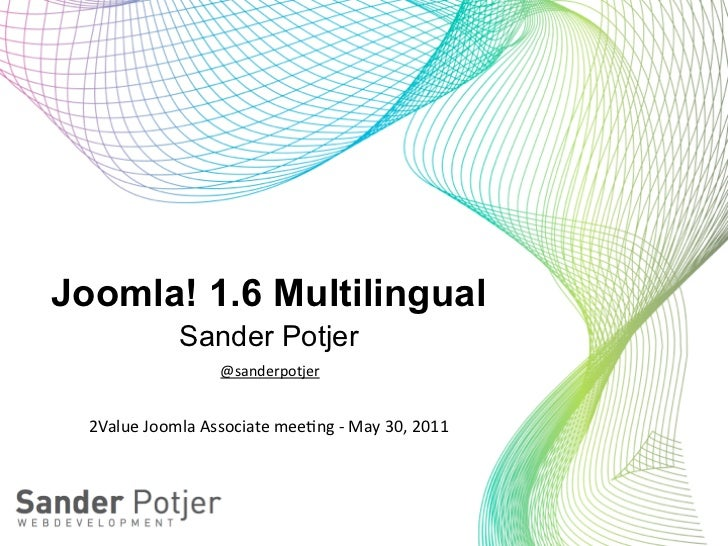 Joomla 1.6 multilingual - 2Value meeting