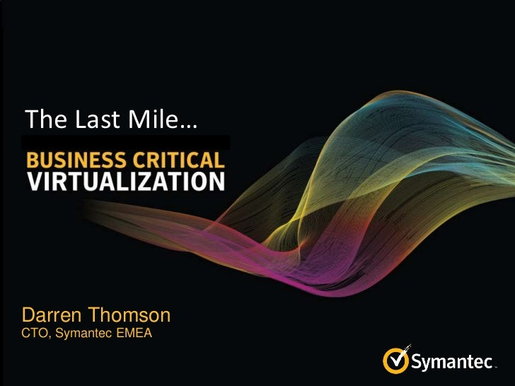 Virtualizing Business cCritical Applications_ Darren Thomson