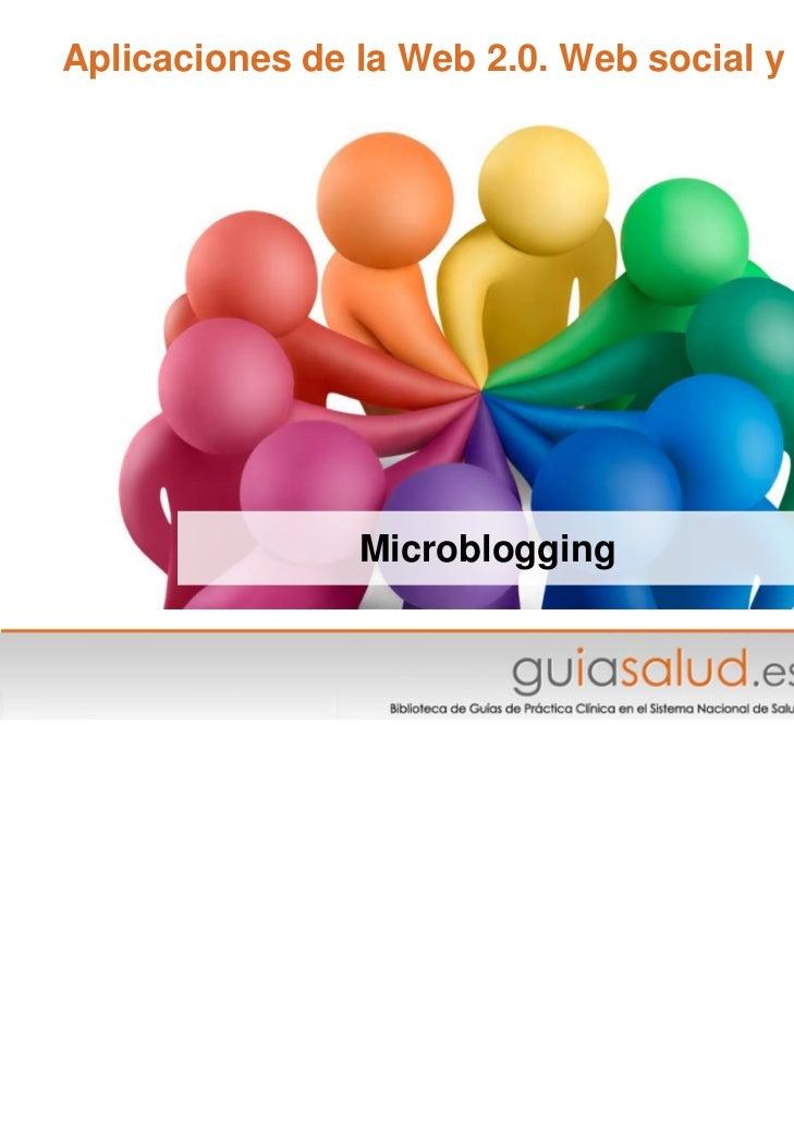 Aplicaciones de la Web 2.0. Web social y Salud                Microblogging