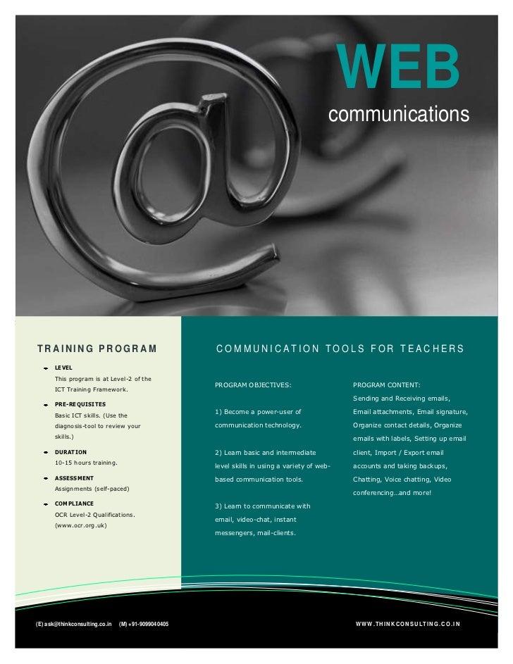 Web Communications Brochure
