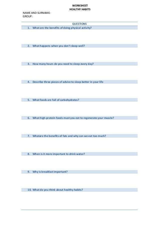 2 worksheet healthy habits (1)