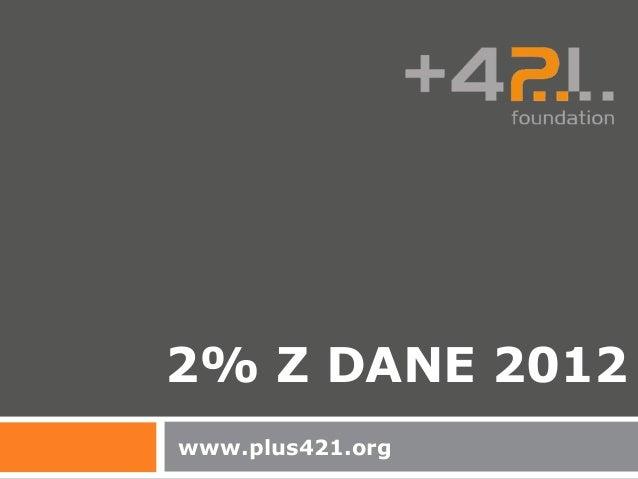 2% Z DANE 2012www.plus421.org