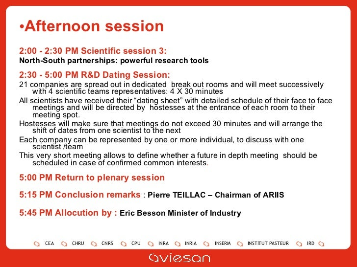 <ul><li>Afternoon session </li></ul><ul><li>2:00 - 2:30 PM  Scientific session 3:   </li></ul><ul><li>North-South partners...