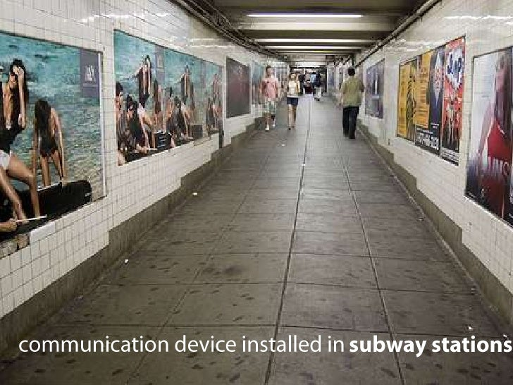communication device installed in subway stations<br />