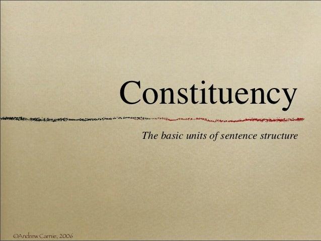 3.1 constituency