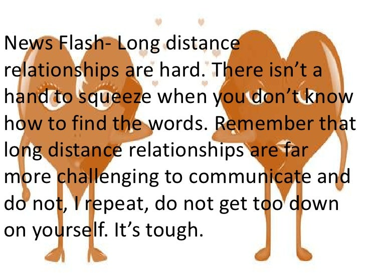 New relationship advice long distance