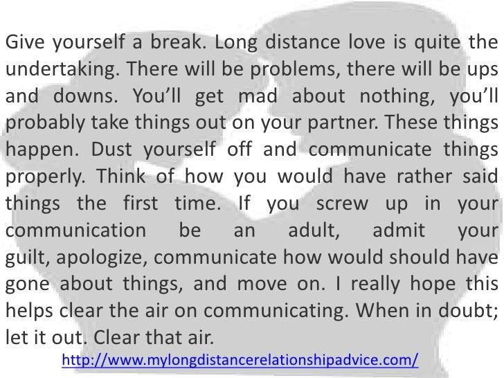 far distant relationship advice