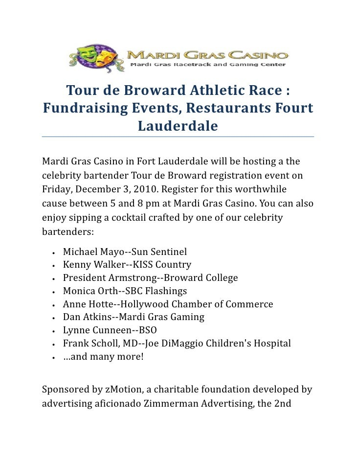 Tour de Broward Athletic Race : Fundraising Events, Restaurants Fourt Lauderdale