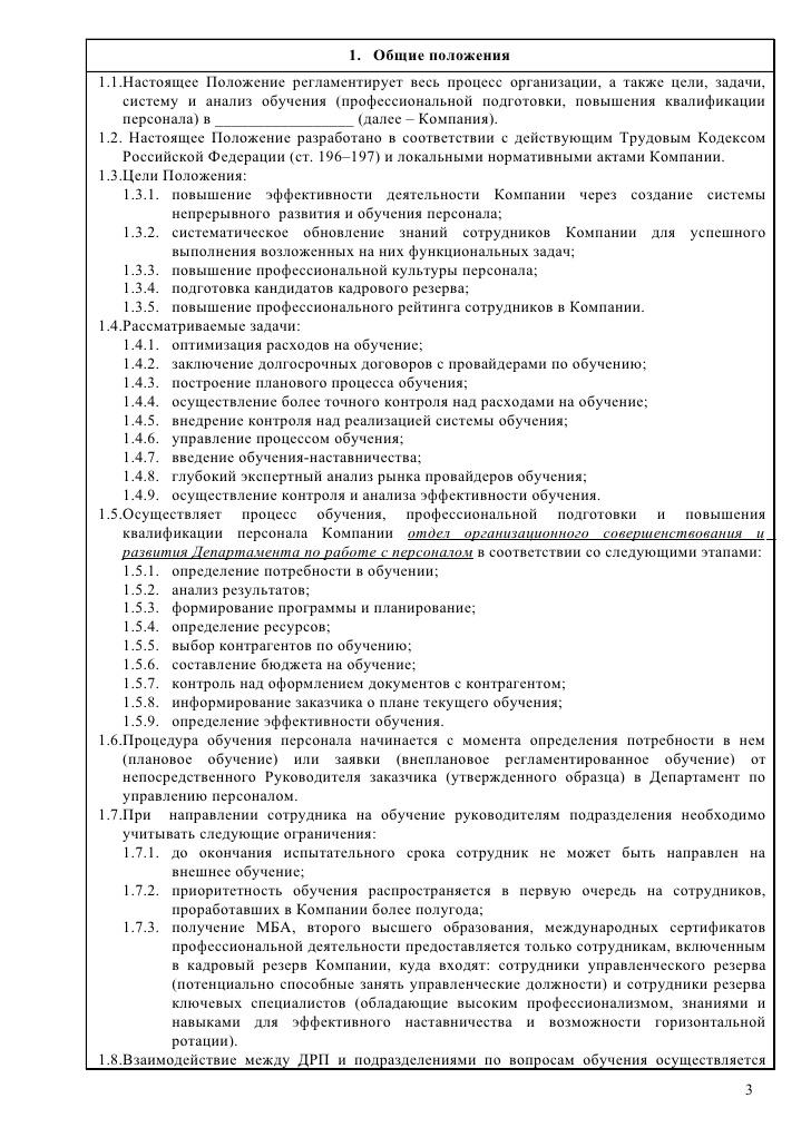 Регламент Работы Образец