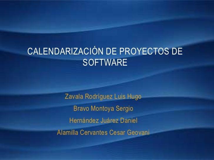 Calendarización de Proyectos de Software