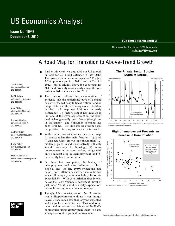 US Economics AnalystIssue No: 10/48December 3, 2010                                                                       ...