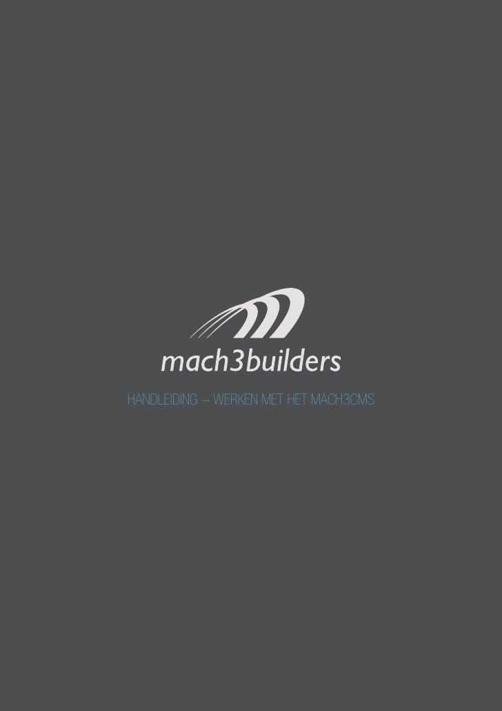 handleiding - werken met het mach3cms