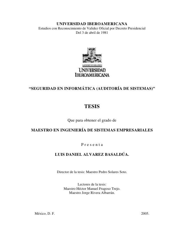 UNIVERSIDAD IBEROAMERICANA    Estudios con Reconocimiento de Validez Oficial por Decreto Presidencial                     ...