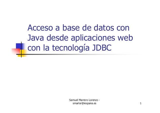 3. Curso Java JDBC (Bases de datos) - Curso 2005-2006