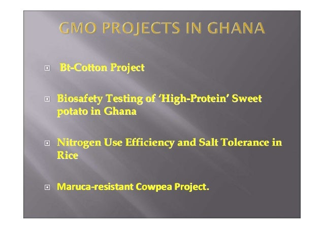 Transgenic Crop Projects in Ghana - September 2012