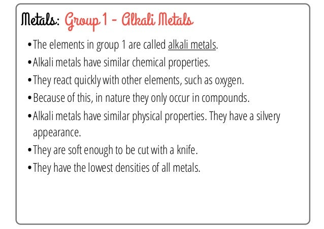 Why Do All Group Of Elements Have Similar Chemical Properties