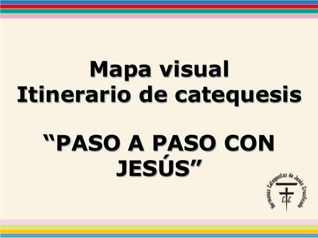 "Mapa visual Itinerario de catequesis ""PASO A PASO CON JESÚS"""