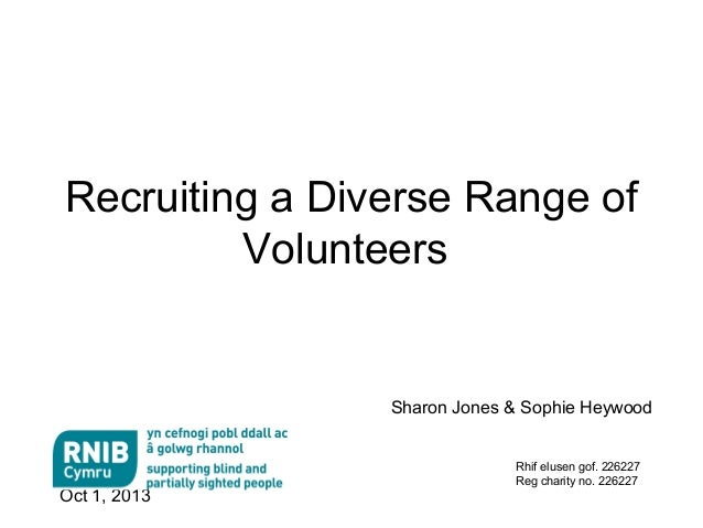 Recruiting a diverse range of volunteers